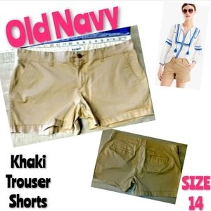 Old Navy Shorts Size 14 Khaki Trouser Stre…